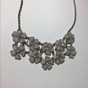 Floral Sparkly Diamond Necklace